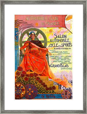 Automobile Club Framed Print by Vintage Automobile Ads and Posters