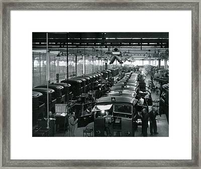 Automobile Factory Workers Framed Print by Retro Images Archive