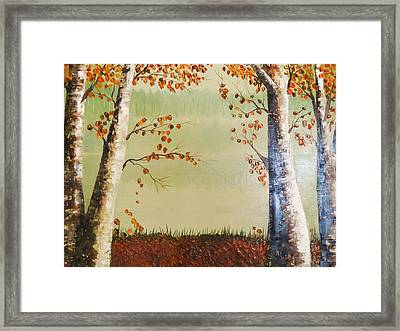 Autum On The Ema River  2 Framed Print by Misuk  Jenkins