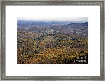Autumn Across The Shenandoah Framed Print by Skip Willits