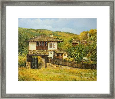 Autumn Afternoon In Bojenci Framed Print by Kiril Stanchev