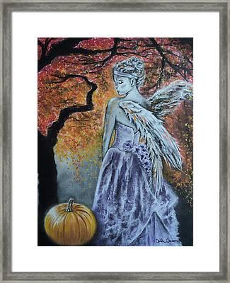 Autumn Angel Framed Print by Carla Carson