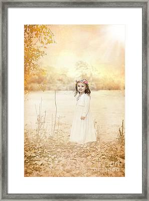 Autumn Angel Framed Print by Cindy Singleton