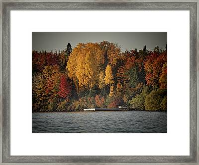 Autumn Arrives To Buffalo Bay Framed Print by Thomas Young