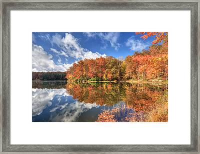 Autumn At Boley Lake Framed Print by Jaki Miller