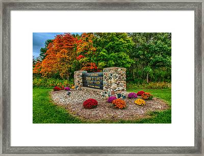 Autumn At Chain O'lakes State Park Framed Print by Gene Sherrill