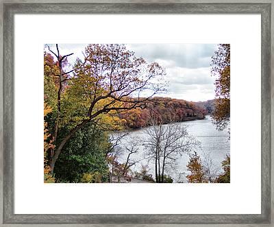 Autumn At Glacier Lake Framed Print by Monnie Ryan