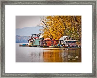 Autumn At Latsch Island Framed Print by Kari Yearous