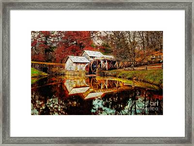 Autumn At Mabry Mill Framed Print by Lianne Schneider