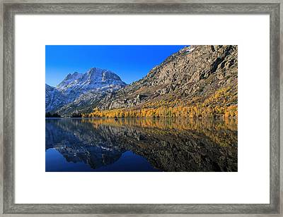 Autumn At Silver Lake Framed Print by Donna Kennedy