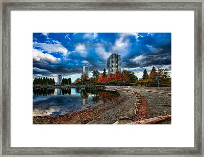 Autumn At The Lagoon Framed Print by Mike Thompson