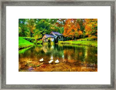 Autumn At The Mill Framed Print by Darren Fisher