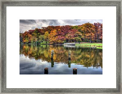 Autumn At The Pond Framed Print by Scott Wood