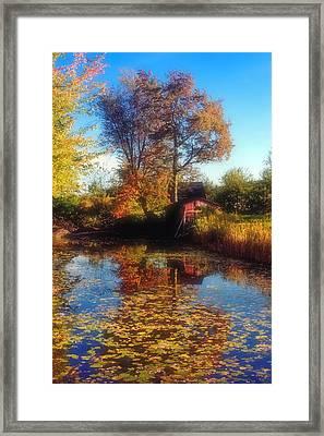 Autumn Barn Framed Print by Joann Vitali