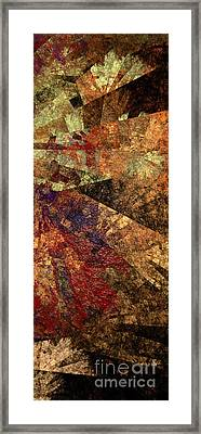 Autumn Bend Framed Print by Andee Design