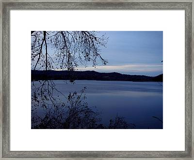 Autumn Blue Framed Print by Wild Thing