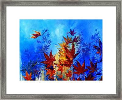 Autumn Breeze Framed Print by Hanne Lore Koehler