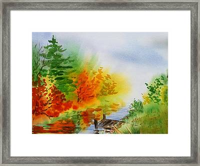 Autumn Burst Of Fall Impressionism Framed Print by Irina Sztukowski