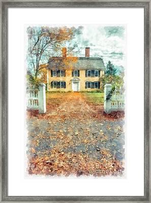 Autumn Colonial Splendor Framed Print by Edward Fielding