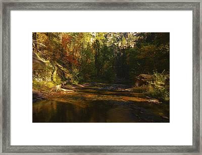 Autumn Colors By The Creek  Framed Print by Saija  Lehtonen