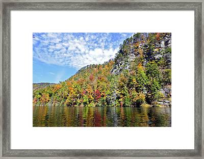 Autumn Colors On A Lake Framed Print by Susan Leggett