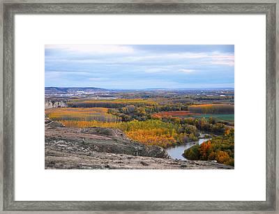 Autumn Colors On The Ebro River Framed Print by RicardMN Photography