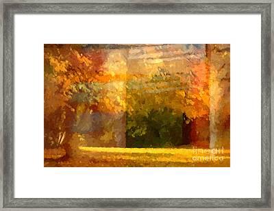 Autumn Colors Painterly Framed Print by Lutz Baar