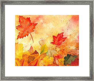 Autumn Dance Framed Print by Irina Sztukowski