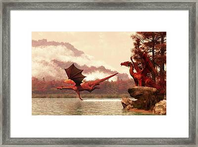 Autumn Dragons Framed Print by Daniel Eskridge