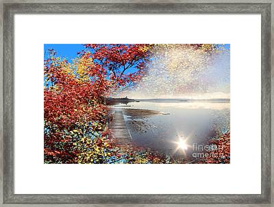 Autumn Dreaming Framed Print by Cathy  Beharriell