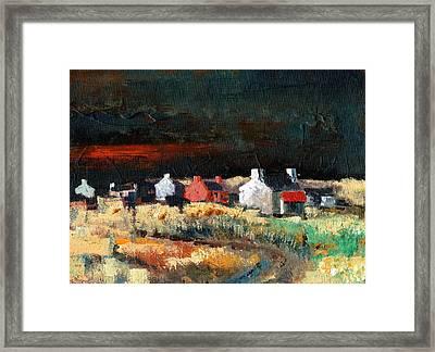 Autumn Dusk Framed Print by Val Byrne