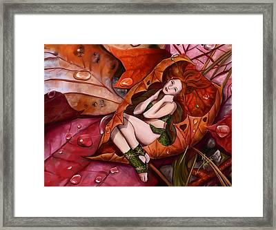 Autumn Fairy Framed Print by Maggie Terlecki