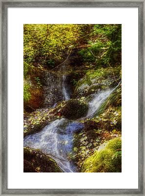 Autumn Falls Framed Print by Melanie Lankford Photography
