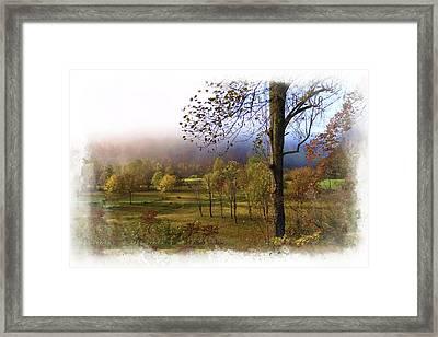 Autumn Farm Framed Print by Debra and Dave Vanderlaan