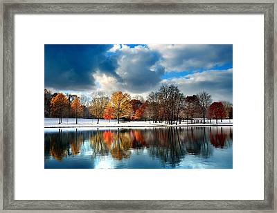 Autumn Finale Framed Print by Rob Blair