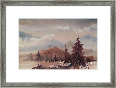 Autumn Fog Framed Print by Micheal Jones