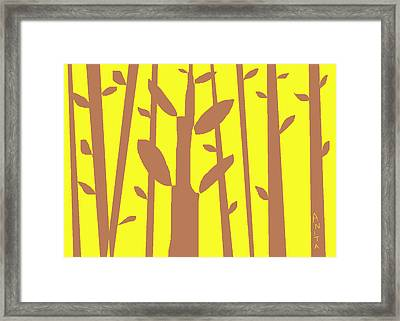 Autumn Forest Framed Print by Anita Dale Livaditis