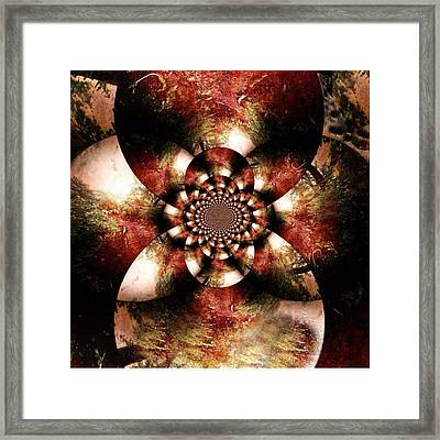 Autumn Fractal Abstract Framed Print by Maggie Vlazny