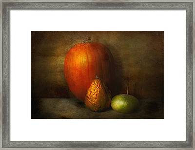 Autumn - Gourd - Melon Family  Framed Print by Mike Savad