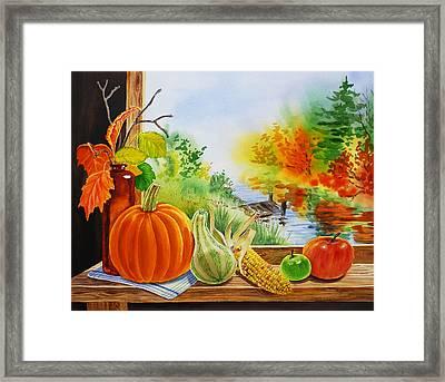 Autumn Harvest Fall Delight Framed Print by Irina Sztukowski