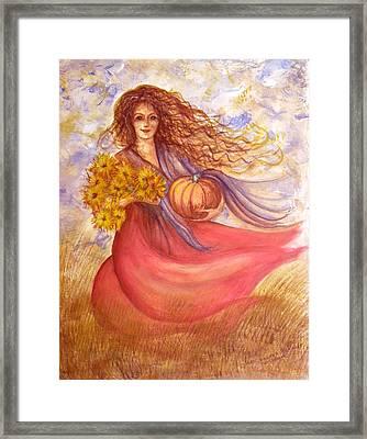 Autumn Harvest Framed Print by Sheri Lauren Schmidt
