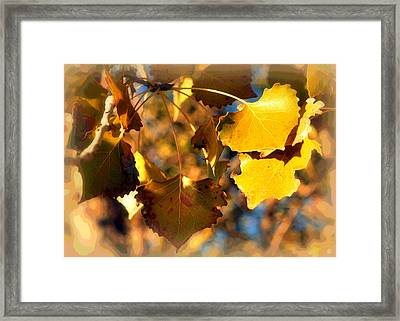 Autumn Hearts Framed Print by Lisa Holland-Gillem