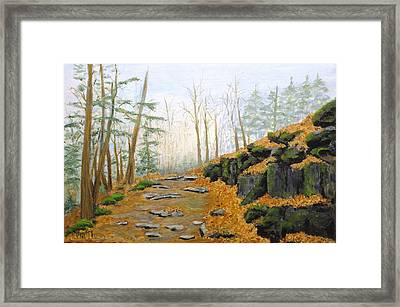 Autumn Hike Framed Print by Peggy King