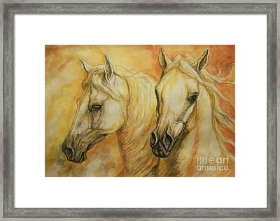 Autumn Horses Framed Print by Silvana Gabudean