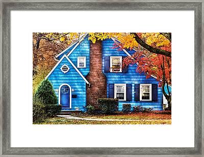 Autumn - House - Little Dream House  Framed Print by Mike Savad