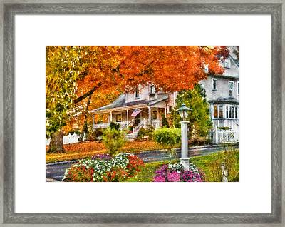 Autumn - House - The Beauty Of Autumn Framed Print by Mike Savad