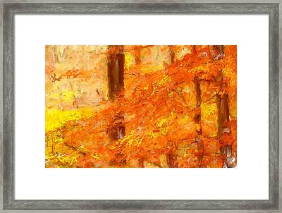 Autumn Impressions Framed Print by Lourry Legarde