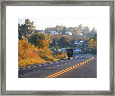 Autumn In Berlin Ohio Framed Print by Dan Sproul