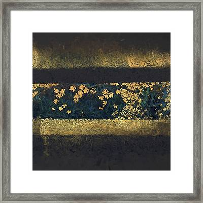 Autumn In Blue And Gold 2 Framed Print by Carol Leigh