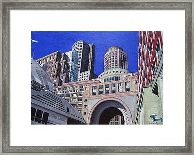 Autumn In Boston Framed Print by Kevin Martin